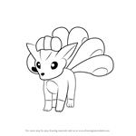 How to Draw Vulpix from Pokemon GO