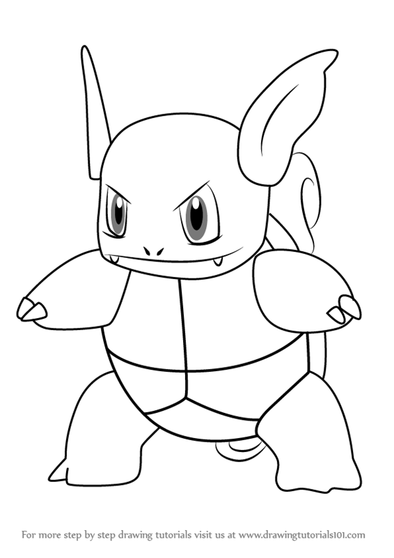Learn How To Draw Wartortle From Pokemon GO Pokemon GO