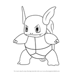 How to Draw Wartortle from Pokemon GO