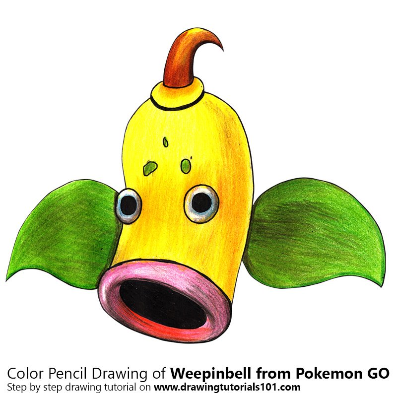 Weepinbell from Pokemon GO Color Pencil Drawing