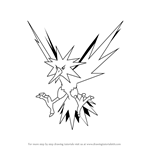 How to Draw Zapdos from Pokemon GO