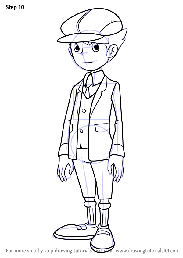 professor layton coloring pages - photo#19