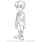 How to Draw Future Luke Triton from Professor Layton