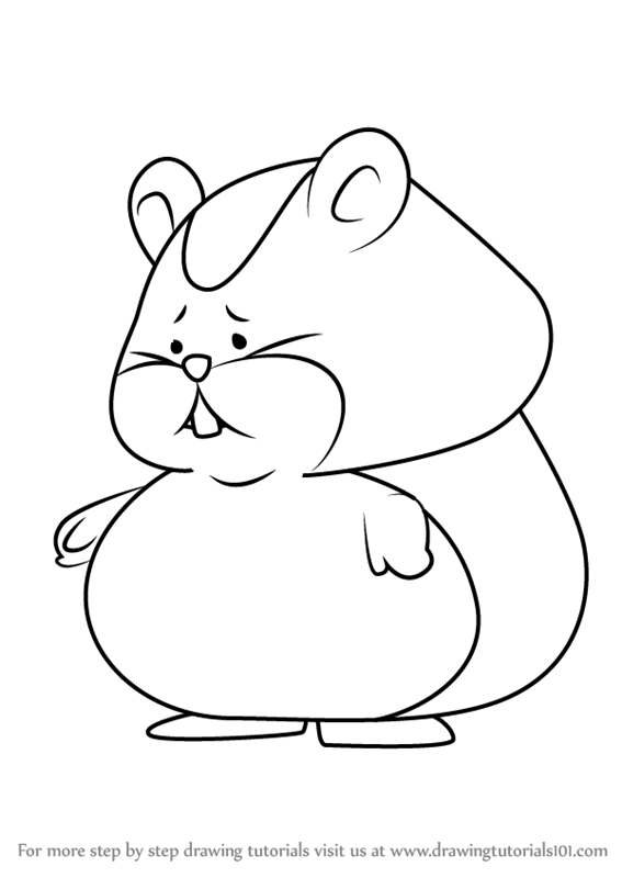 learn how to draw hamster from professor layton professor layton