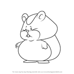 How to Draw Hamster from Professor Layton