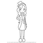 How to Draw Katrielle Layton from Professor Layton