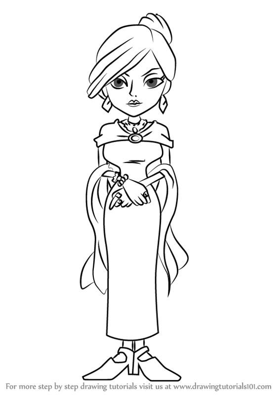 Learn How To Draw Lady Dahlia Reinhold From Professor