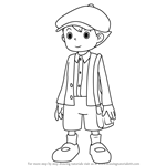How to Draw Luke Triton from Professor Layton