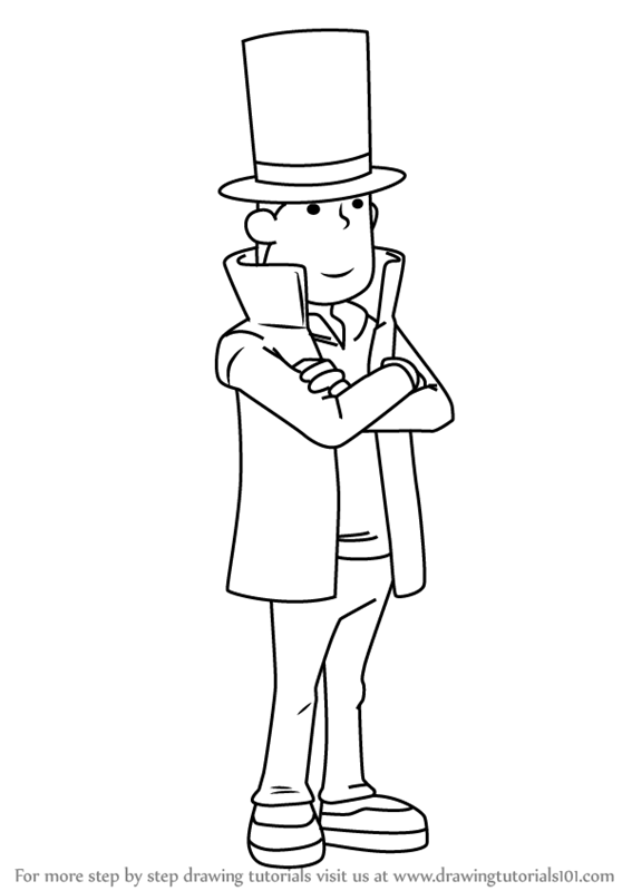 Learn How To Draw Professor Hershel Layton From Professor