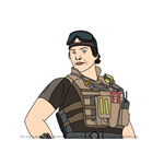 How to Draw Gridlock from Rainbow Six Siege