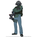 How to Draw Jager from Rainbow Six Siege