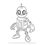 How to Draw Clank from Ratchet and Clank