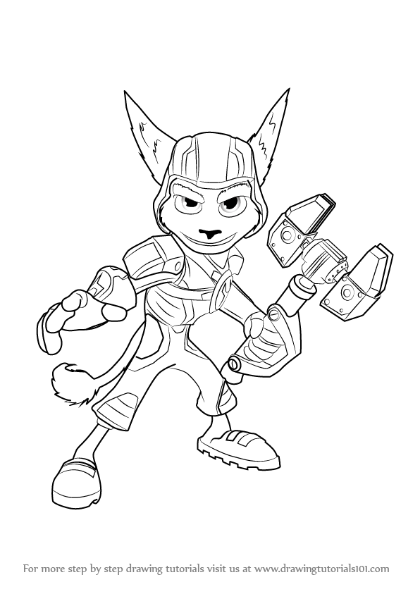 Learn how to draw ratchet from ratchet and clank ratchet for Ratchet coloring pages