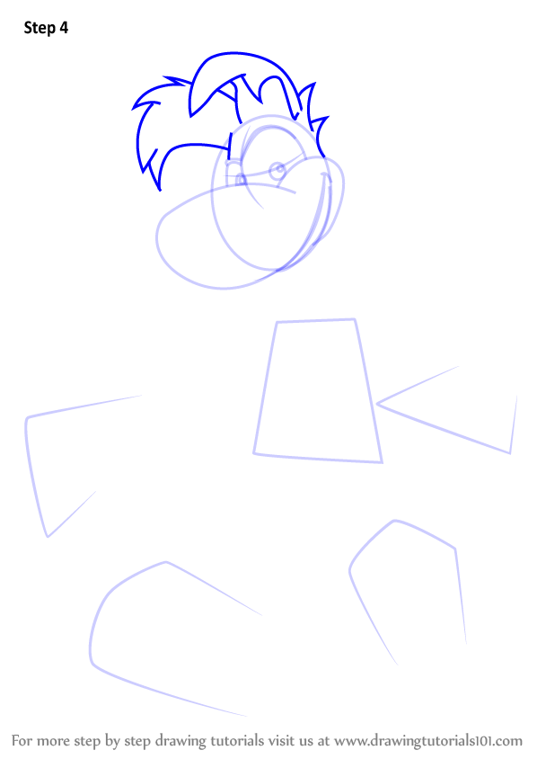 Learn How To Draw Rayman From Rayman Rayman Step By Step