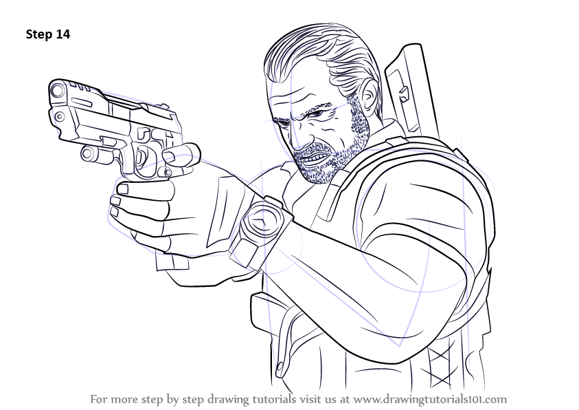 Learn How To Draw Barry Burton From Resident Evil