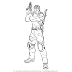 How to Draw Chris Redfield from Resident Evil