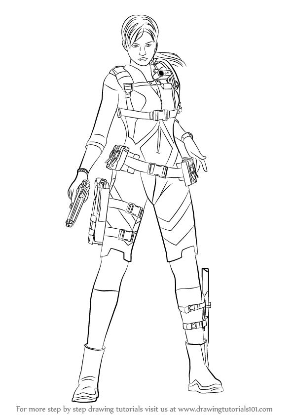 resident evil 5 jill valentine coloring pages | Learn How to Draw Jill Valentine from Resident Evil ...