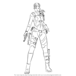 How to Draw Jill Valentine from Resident Evil
