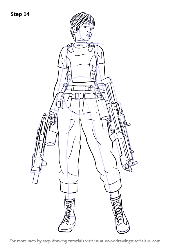 learn how to draw rebecca chambers from resident evil