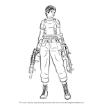How to Draw Rebecca Chambers from Resident Evil