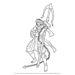 How to Draw Chosokabe Motochika from Sengoku BASARA