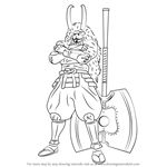 How to Draw Takeda Shingen from Sengoku BASARA