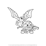 How to Draw Air Strike from Skylanders