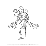 How to Draw Bad Juju from Skylanders