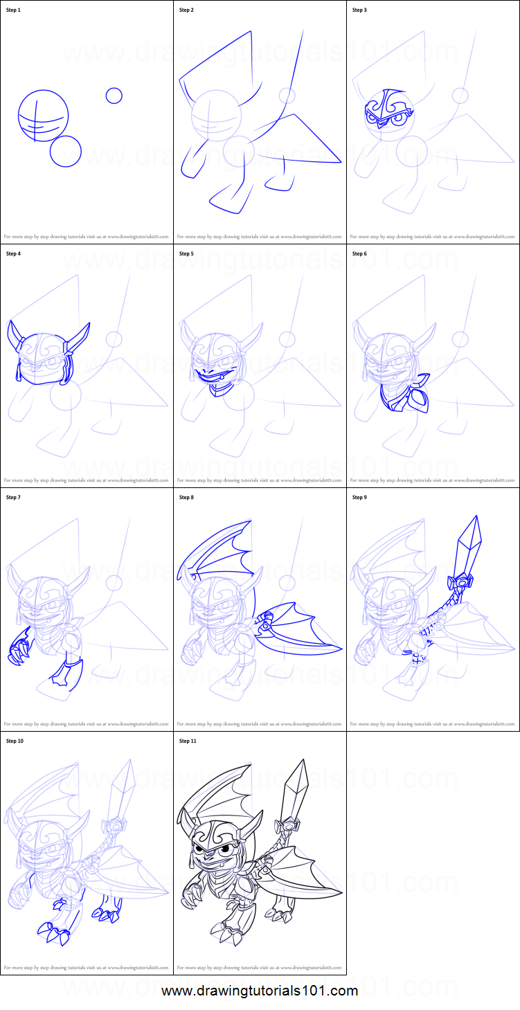 photo relating to Skylanders Printable identified as How in direction of Attract Blades towards Skylanders printable phase through stage