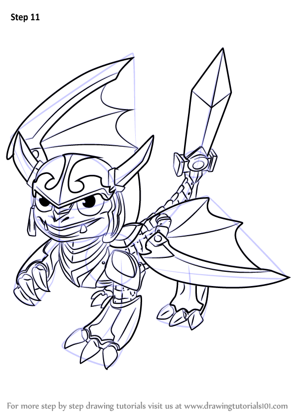 Learn How To Draw Blades From Skylanders Skylanders Step