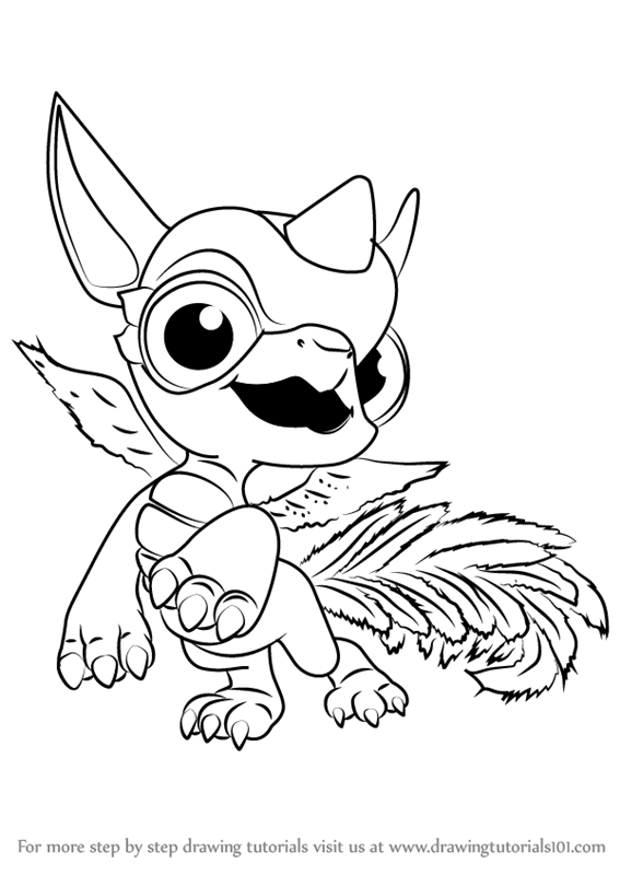 Step By Step How To Draw Breeze From Skylanders