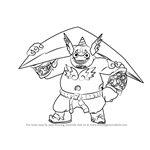 How to Draw Gusto from Skylanders