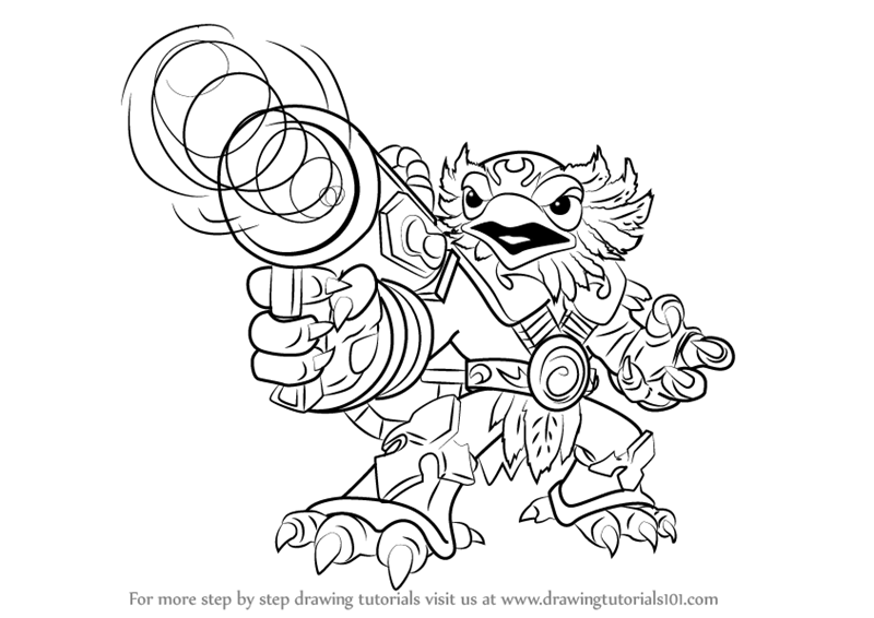 learn how to draw jet-vac from skylanders (skylanders) step by ... - Skylanders Coloring Pages Jet Vac