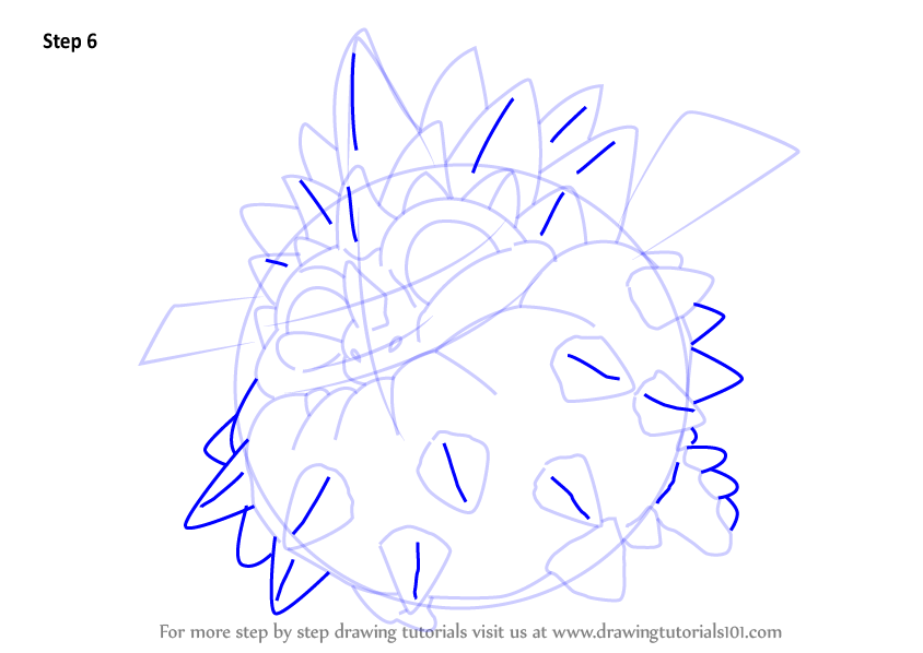 Learn How To Draw Pop Thorn From Skylanders Step By