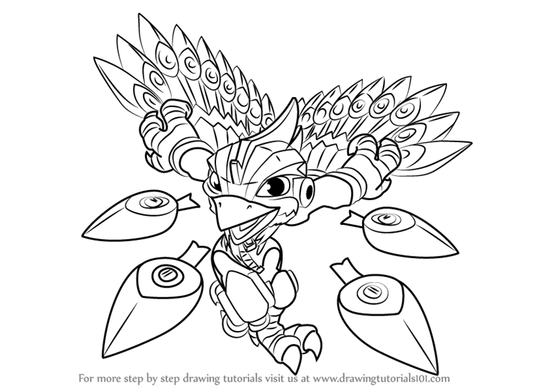 Learn How To Draw Stormblade From Skylanders Skylanders