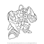 How to Draw Swarm from Skylanders