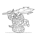 How to Draw Thunderbolt from Skylanders