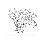 How to Draw Warnado from Skylanders