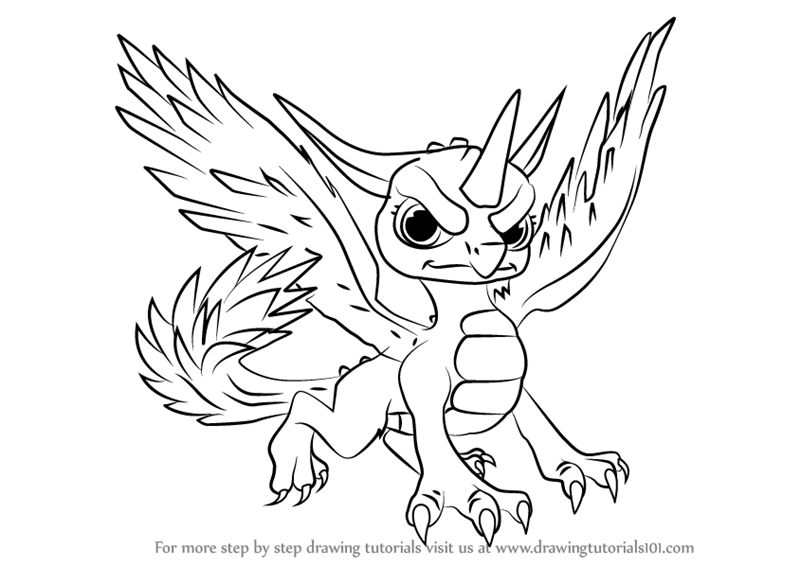 Learn How To Draw Whirlwind From Skylanders Skylanders