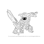 How to Draw Wild Storm from Skylanders