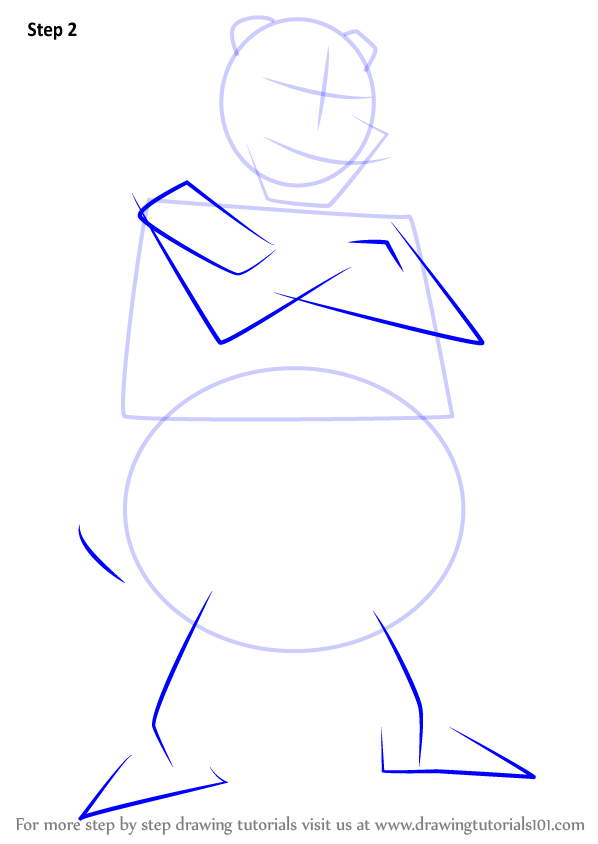 Step By Step How To Draw Murray From Sly Cooper