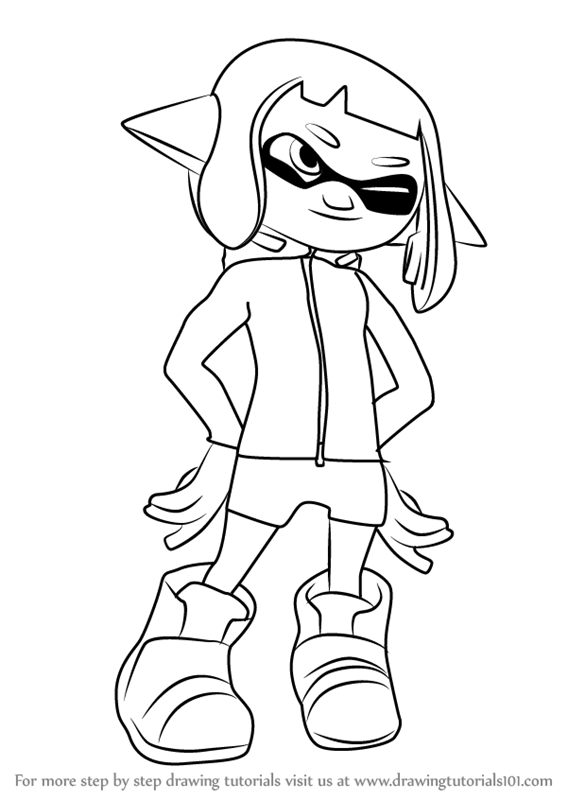 Step By Step How To Draw Agent 4 From Splatoon 2