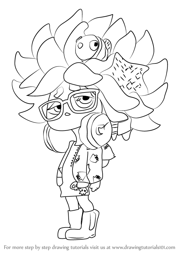 coloring pages splatoon - learn how to draw annie from splatoon splatoon step by