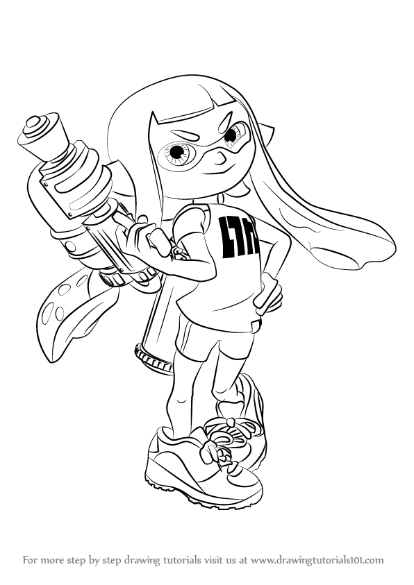 Step By Step How To Draw Inkling Female From Splatoon