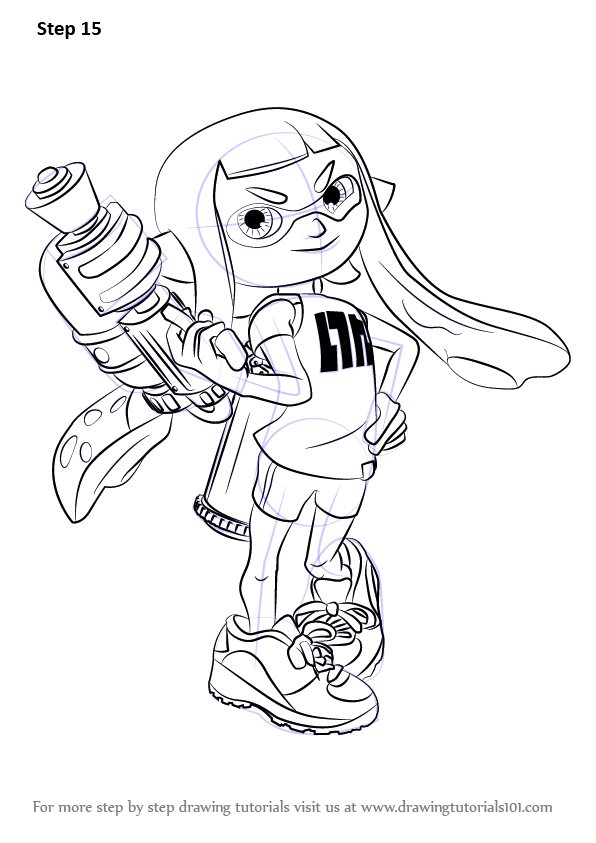Learn How To Draw Inkling Female From Splatoon Splatoon