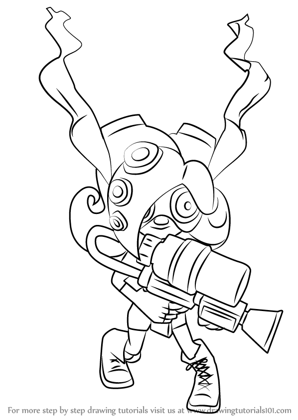 Learn How to Draw Octoling from