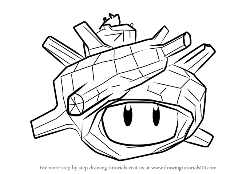 How To Draw Super Sea Snail From Splatoon Step By Step on free cars 3 coloring sheets