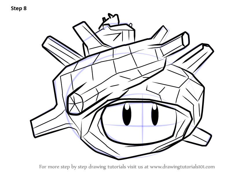 Step by step how to draw super sea snail from splatoon for Sea snail coloring page