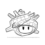 How to Draw Super Sea Snail from Splatoon