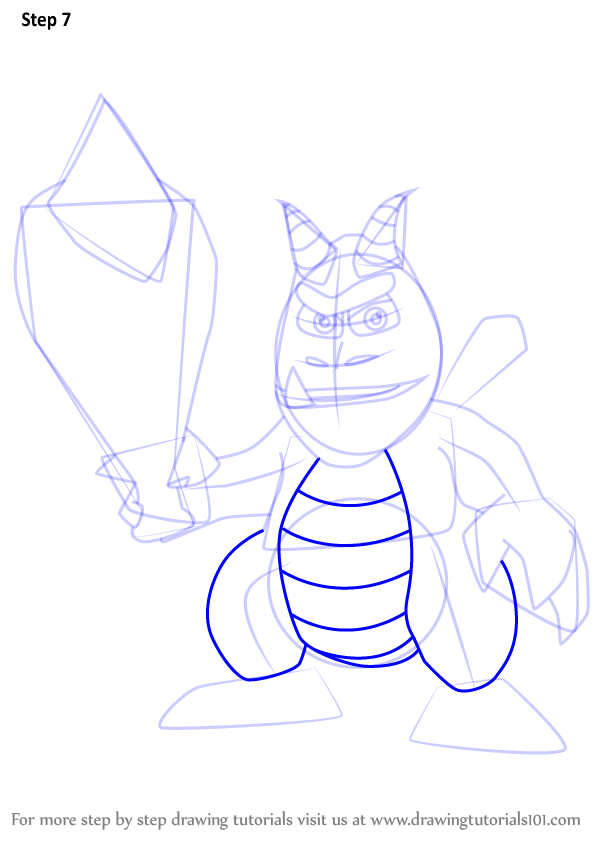learn how to draw crush from spyro  spyro  step by step